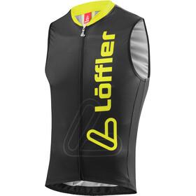 Löffler Racing Bike Tanktop Full-Zip Men black/lemon